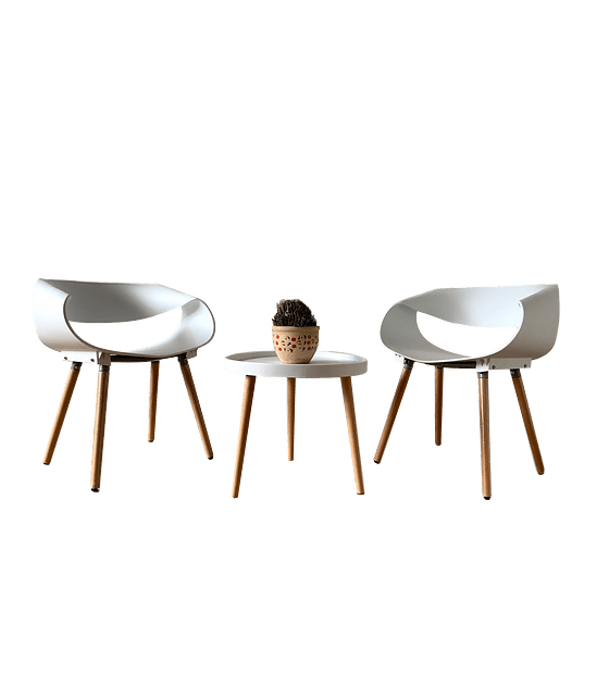 Set Silla Diseño TWIST - BLANCO