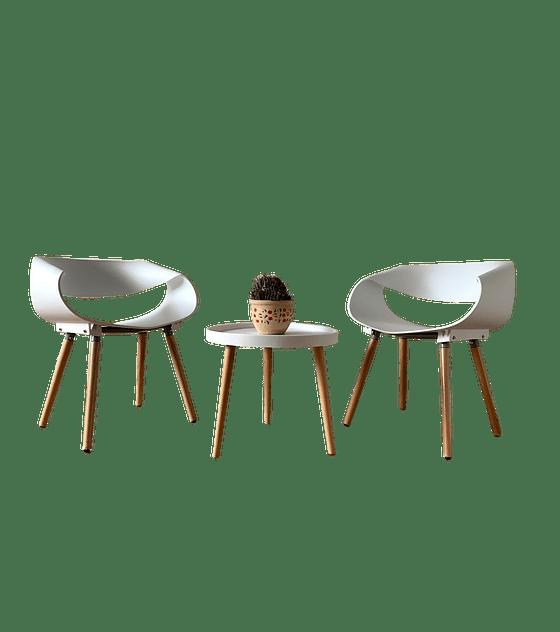 Set Silla Diseño TWIST - BLANCO