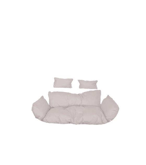 Silla Colgante Doble Polo XXL Rattan - Chocolate/Marfil