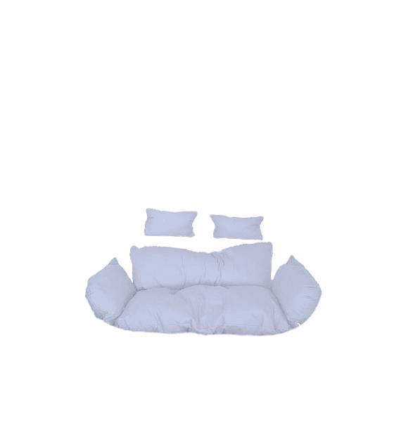 Silla Colgante Doble Polo XXL Rattan - Gris/Blanco
