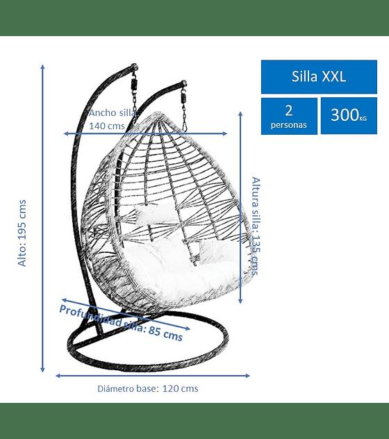 Silla Colgante Bamboo XXL Rattan - Caramelo