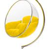 Silla Colgante Transparente Bubble Chair - Estructura Plateada