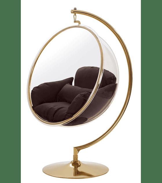 Silla Colgante Transparente Bubble Chair - Estructura Dorada