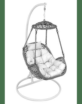 Silla Colgante Simple Rattan (Nipona) - Gris