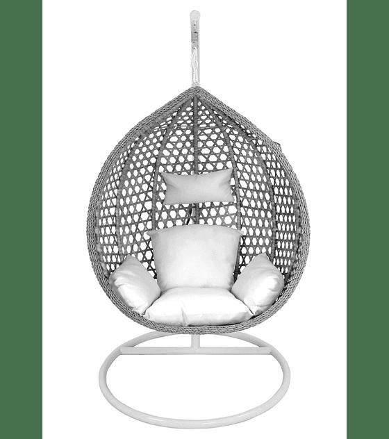 Silla Colgante Simple Rattan (tamaño M) - Gris
