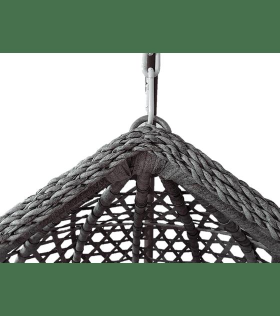 Silla Colgante Simple Rattan (tamaño L) - Gris