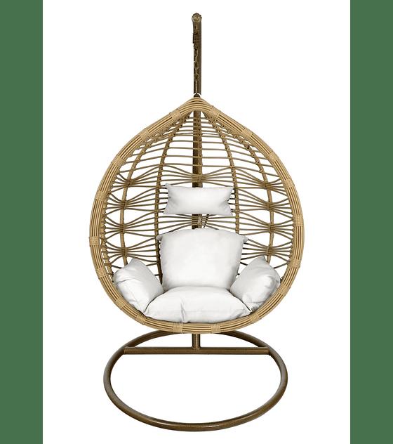 Silla Colgante Bamboo Rattan (tamaño M) - Caramelo