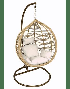 Silla Colgante Bamboo Rattan (tamaño L) - Caramelo