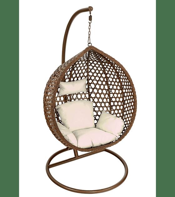 Silla Colgante Simple Rattan (tamaño M) - Chocolate