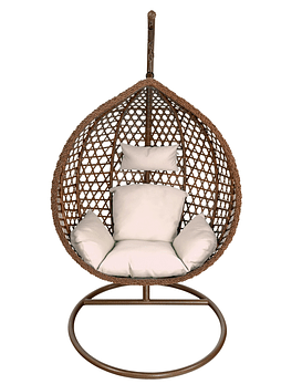 Silla Colgante Simple Rattan (tamaño L)- Chocolate