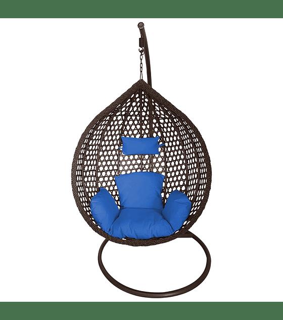 Silla Colgante Simple Rattan (tamaño L)- Chocolate