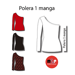 3 Tallas Polera 1 manga