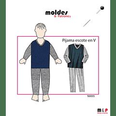 Pijama escote V niños