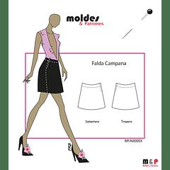 3 TALLAS S M L - Falda Campana