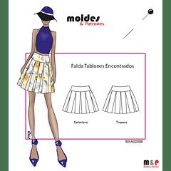 3 TALLAS S M L  - Falda con tablones
