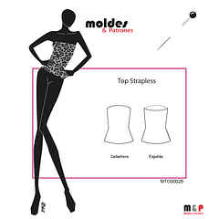 3 TALLAS S M L - Top Strapless