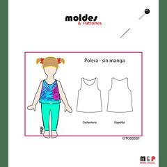 POLERA NIÑA 3 tallas 2 - 4 - 6