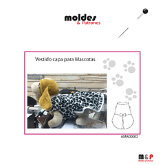 Molde de Vestido capa para mascotas