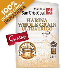 HARINA WHOLE GRAIN PANADERA GRUESA 25 KG