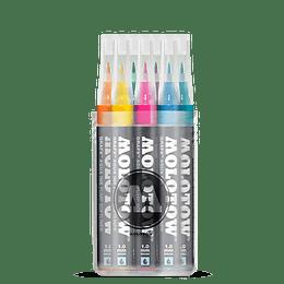 Pack 12 - Grafx Pump Softliner Aqua ink 1 mm