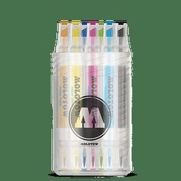 Pack 12 - Twin marker Aqua punta pincel 1 mm / punta biselada 2-6 mm Set 1