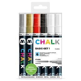 Pack 6 Chalk marker - 4 mm Set basic 1