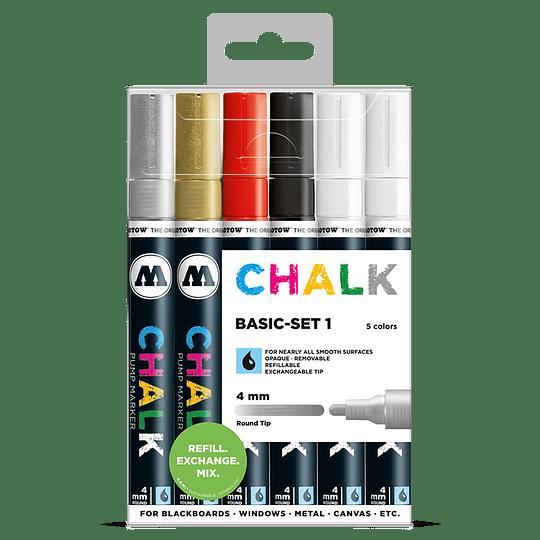 Pack 6 Chalk marker - 4 mm Set basic 1