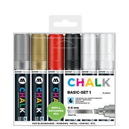 Pack 6 Chalk marker - 4-8 mm Set basic 1