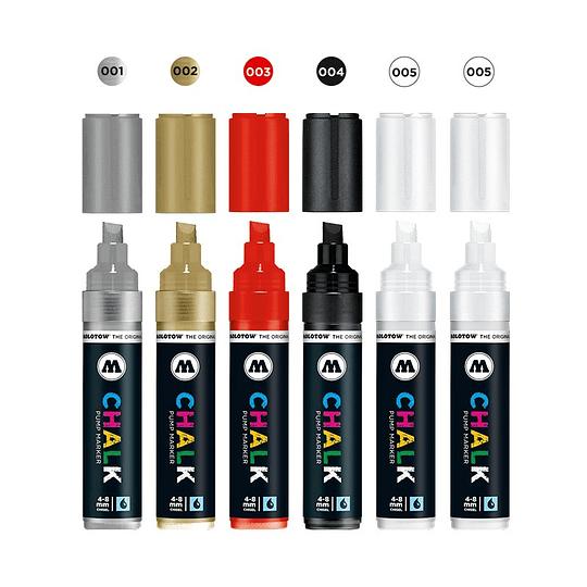 Pack 6 Chalk marker - 4-8 mm Set basic 1