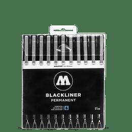 Pack 11 marcadores - Blackliner Set 11x (Venta sin empaque)
