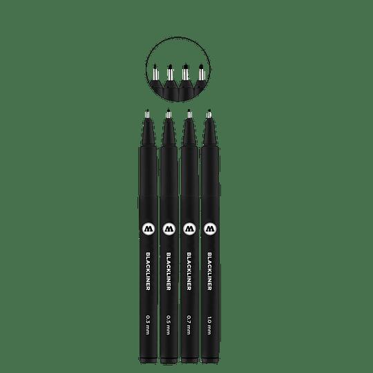 Pack 4 marcadores - Blackliner Set 2 (Venta sin empaque)