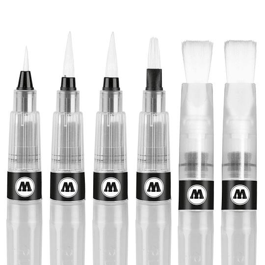 Pack 6 pinceles acuarela Set 2 - Emtpy Aqua Squeeze Pen