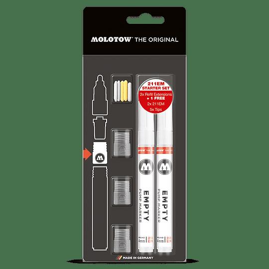 Pack Marcadores y Puntas Starter set 211em - 4mm