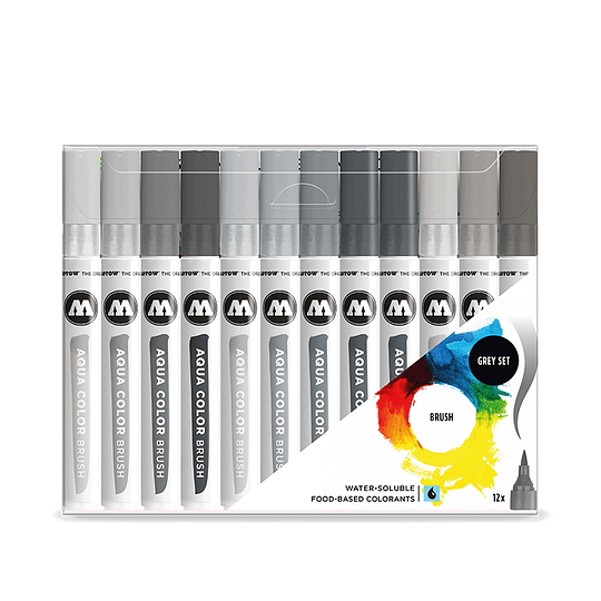 AQUA COLOR BRUSH GREY-SET 1