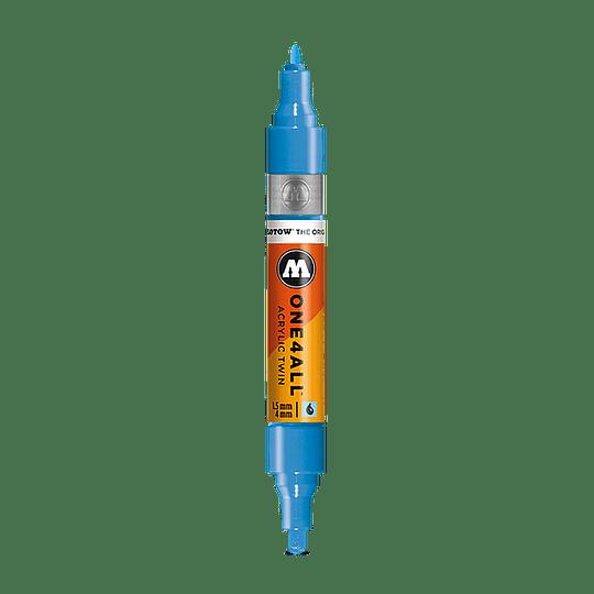 #218 neon orange fluorescent  <br>One4All Twin