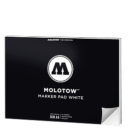A4 - Marker Pad White Vertical (Papel blanco)