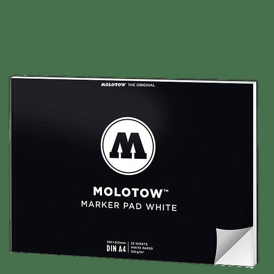 A4 - Marker Pad White Vertical (Papel blanco) - 29,7 x 21 cm