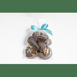 Bolsa 2 mini alfajores + 70 grs Trufas Frutales
