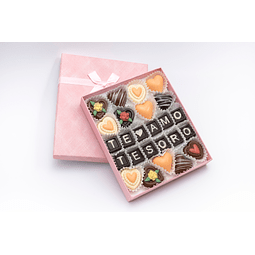 Caja mensaje + 13 bombones