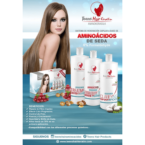 Mini Kit Teens Hair Keratine Aminokeratin 60ML