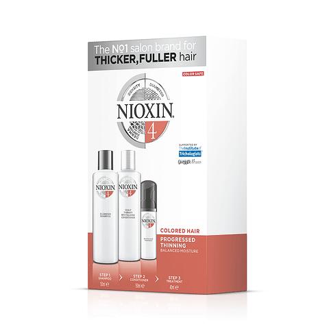 Trial Kit Nioxin Sistema 4 Cabellos Tinturados/ Debilitamiento Avanzado.