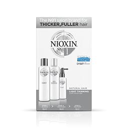 Trial Kit Nioxin Sistema 1 Cabellos Naturales /Debilitamiento Leve