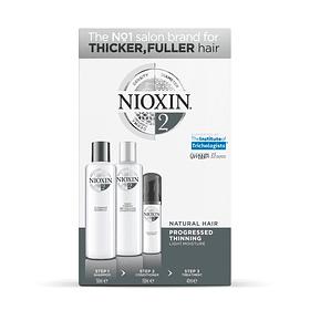 Trial Kit Nioxin Sistema 2 Cabellos Naturales/ Debilitamiento Avanzado