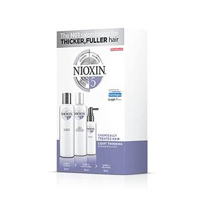 Trial Kit Nioxin Sistema 5 Cabellos Tratados Químicamente/ Debilitamiento Leve