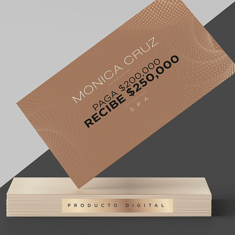 Producto Digital Spa Mónica Cruz $250,000