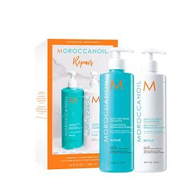Duo Pack Moroccanoil Shampoo y Acondicionador Reparación 500ml