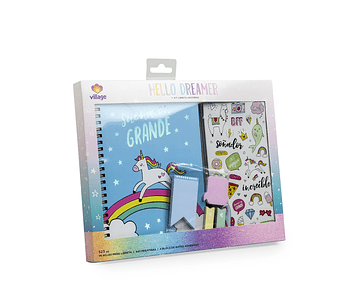 KIT LIBRETA UNICORNIO HD VILLAGE