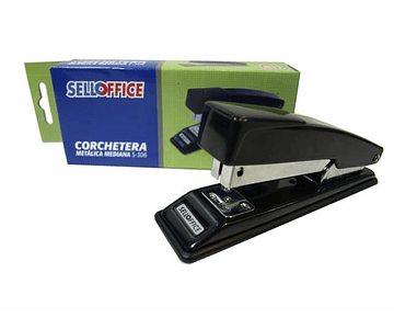 CORCHETERA SELLOFFICE MET. MEDIANA S-306 NEGRA