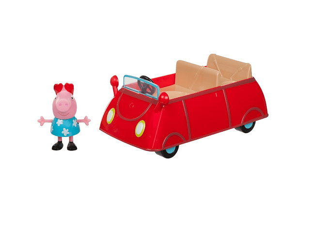 Peppa pig vehiculo Little red card