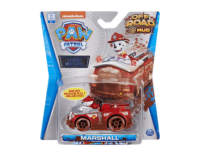 MARSHALL OFF ROAD MUD TRUE METAL PAW PATROL